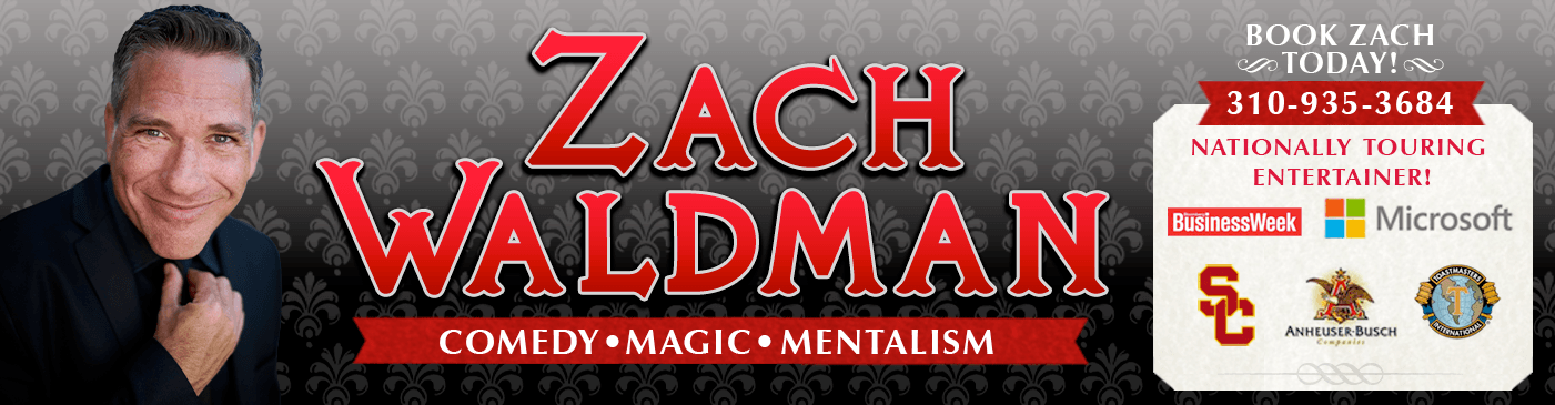 Zach Waldman - Comedian and Magician for private parties and corporate events